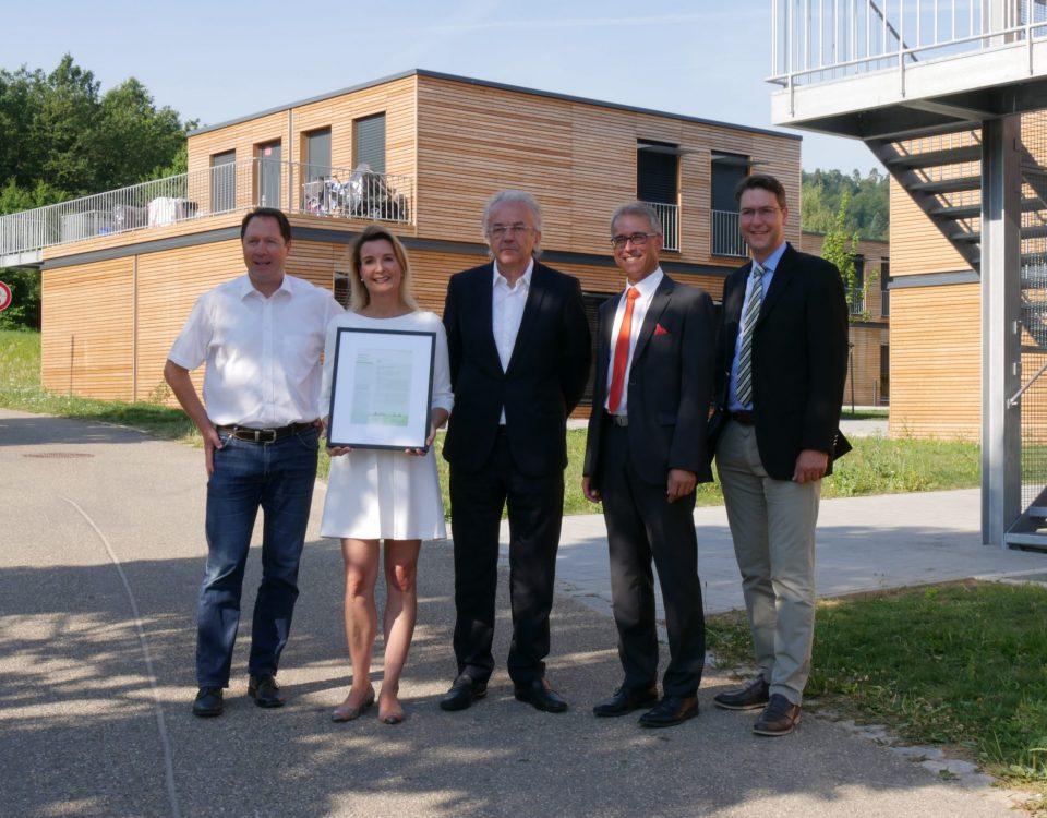 Verleihung Holzbaupreis Foto Landratsamt