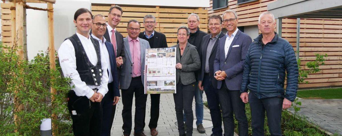 Holzbauten Plüderhausen Postweg Bezahlbares Wohnen Gruppenbild