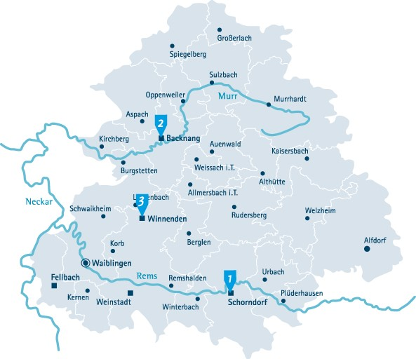 Karte Rems-Murr-Kreis RMG