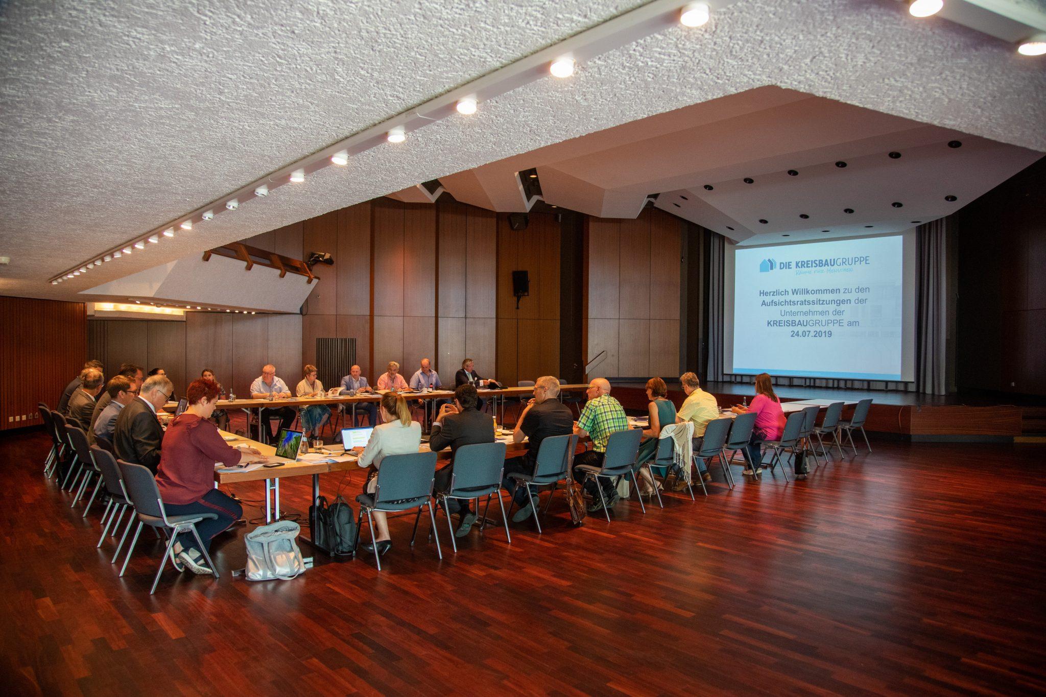 Aufsichtsratssitzung Kreisbaugruppe